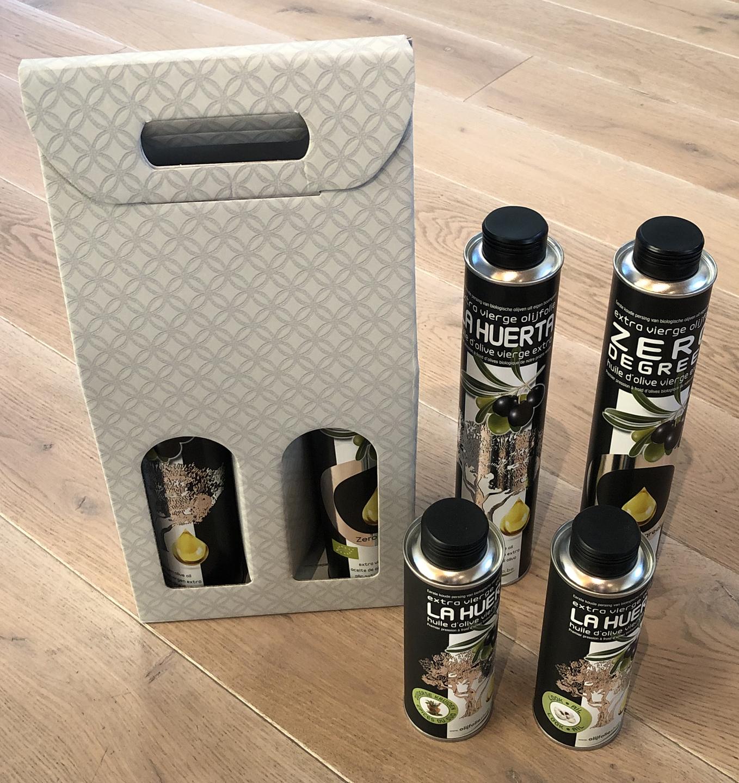 pakket olijfolie EVOO + gearomatiseerde olijfolie (4)